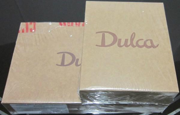 Doces da Dulca entregues em casa: caixas embaladas em plástico lacrado