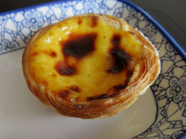 Pastel de nata da Casa Mathilde: massa folhada, ovos e açúcar