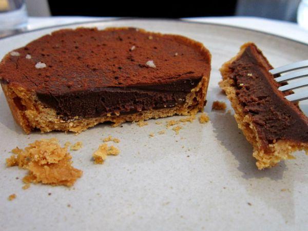Torta de chocolate com caramelo e flor de sal da Torteria